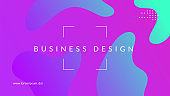 Modern Poster. Wave Dynamic Layout. Fluid Concept. Purple Mobile Background. Art Landing Page. Graphic Journal. Neon Commercial Composition. Business Paper. Magenta Modern Poster