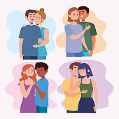 group of couples