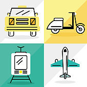 four transport icons