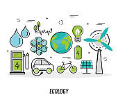 eleven green energy icons