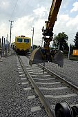 tracks and rails in railroad construction