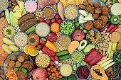 Vegan Health Food Collection for a Healthy Diet