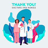 Thank you doctor and Nurses and medical personnel team for fighting the coronavirus.