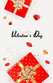 Valentine s Day Background Design with Realistic Lips and Heart. Template for advertising, web, social media and fashion ads. Poster, flyer, greeting card. Vector Illustration EPS10