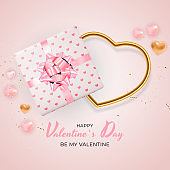 Valentine s Day Background Design. Template for advertising, web, social media and fashion ads. Poster, flyer, greeting card, header for website Vector Illustration EPS10