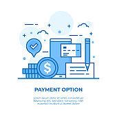 Payment Option Thin Line Illustration