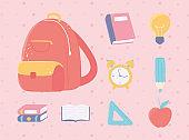 back to school objects