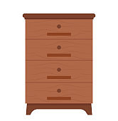Cabinet Made of Wood, Wooden Drawer with Handles
