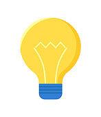 Lamp Bulb Isolated on White. Electric Lightbulb