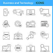 Business and technology, online education and SEO promotion