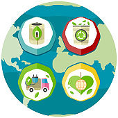 Ways to prevent problems with ecology. Generating eco friendly electricity for cars, waste recycling