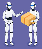 Robots Delivering Boxes and Orders for Clients