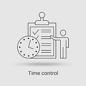 The Time control icon