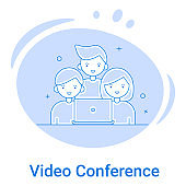 Video conference and Online meeting icon