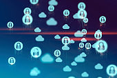 Cloud Computing, Networking and privacy Concept