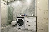 Modern large luxury marble bathroom