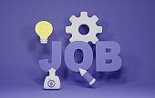 job recruitment 3d render illustration