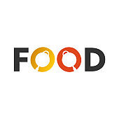 Illustration Vector Graphic of Food Typography Logo