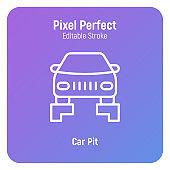 자동차 수리 서비스 아이콘
