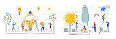 Concepts Set of Business Idea, flat design vector illustration