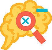 Correction function of human brain icon vector
