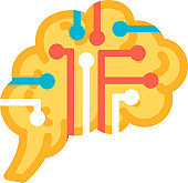 Function intelligence of human brain icon vector