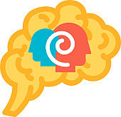 Function psychology of human brain icon vector