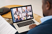 Business people working with video call from remote