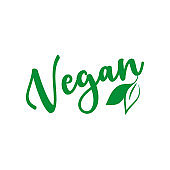 Vegan Vector Lettering Sign Illustration.