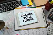 Change your future to advice Businessman inscription Legal advice online, labor law concept