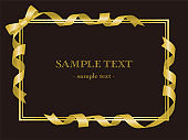 Wrapped ribbon frame background material