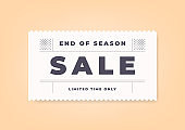 End of season sale vintage minimal banner template.