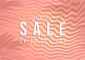 Special offer Sale, Summer sale banner. Pink background special offers and promotion template design.