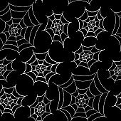 spider web seamless pattern. hand drawn doodle style. vector, minimalism, monochrome. textile, wallpaper, background, wrapping, digital paper. halloween decor.