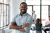 Portrait of happy African American small business owner