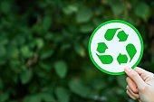 Eco recycling symbol sign