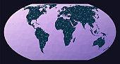 Abstract telecommunication world map.