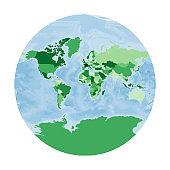 World Map. Van der Grinten III projection.
