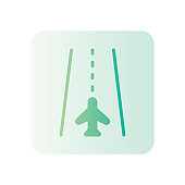 runway gradient icon isolated on white background