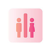 toilet gradient icon isolated on white background