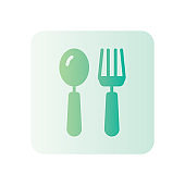restaurant gradient icon isolated on white background