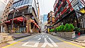 People walking on the street in Seoul downtown.