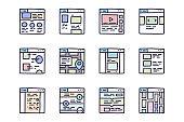 Web design color vector doodle simple icon set