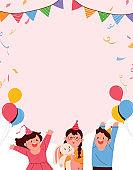Children's Day celebration concept vector background illustration.