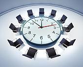 Meeting table clock