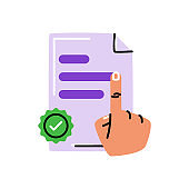 Terms of use. Vector icon in bold line style