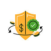 Guarantee. Vector icon in bold line style