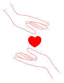 Human hands and hearts.