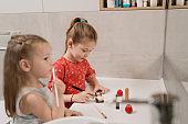Child cosmetics Cute little girls