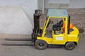Yellow Forklift Truck